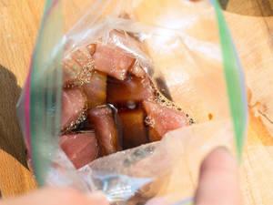 醬油漬鮪魚蓋飯食譜X完全密封夾鏈袋的小技巧