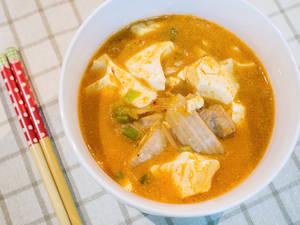涓豆腐煲|韩式豆腐锅作法