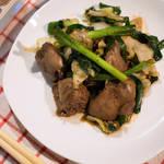 韭菜爆炒雞肝(レバニラ炒め)