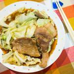 蚝油爆炒高丽菜猪肉