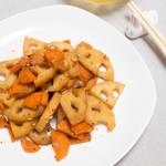 胡蘿蔔炒金平蓮藕