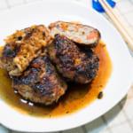 紅蘿蔔漢堡肉|佐蒜蓉醬汁