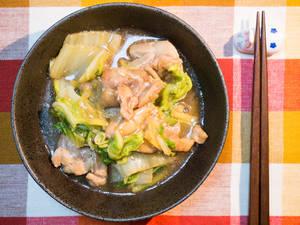 白菜鸡肉生姜煮
