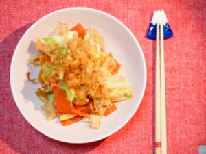 沖繩風|高麗菜炸豆皮雜炒