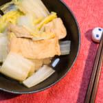日式浸煮白菜炸豆皮