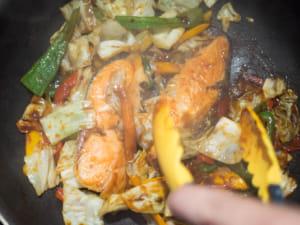 紅味噌香煎鮭魚