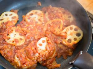 番茄拌炒蓮藕|義式番茄醬基本作法