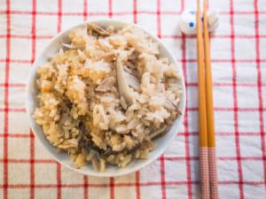 電鍋料理|鮪魚牛蒡炊飯