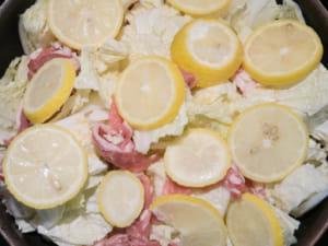 無水豬肉白菜檸檬煮