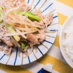 蒜炒豬肉豆芽