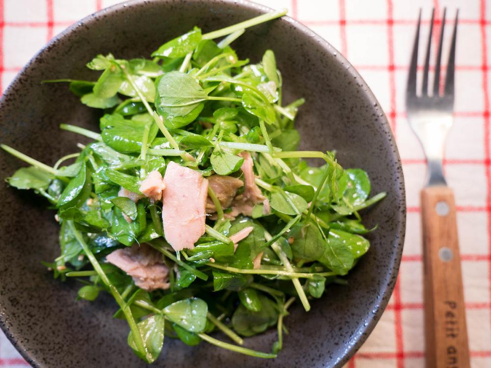 豆苗鮪魚沙拉