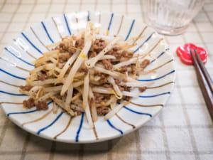 蒜炒豆芽菜絞肉