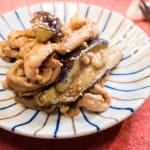 味噌炒茄子豬肉