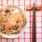 【昨日的美食】鲑鱼牛蒡舞菇炊饭