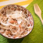 柴魚洋蔥佐梅肉沙拉