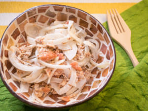 柴鱼洋葱佐梅肉沙拉