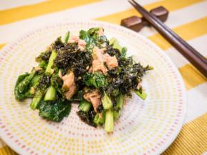 鲔鱼小松菜佐韩式海苔沙拉