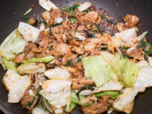 韭菜味噌炒豬五花