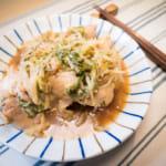 蒸煮鹽燒雞肉豆芽菜