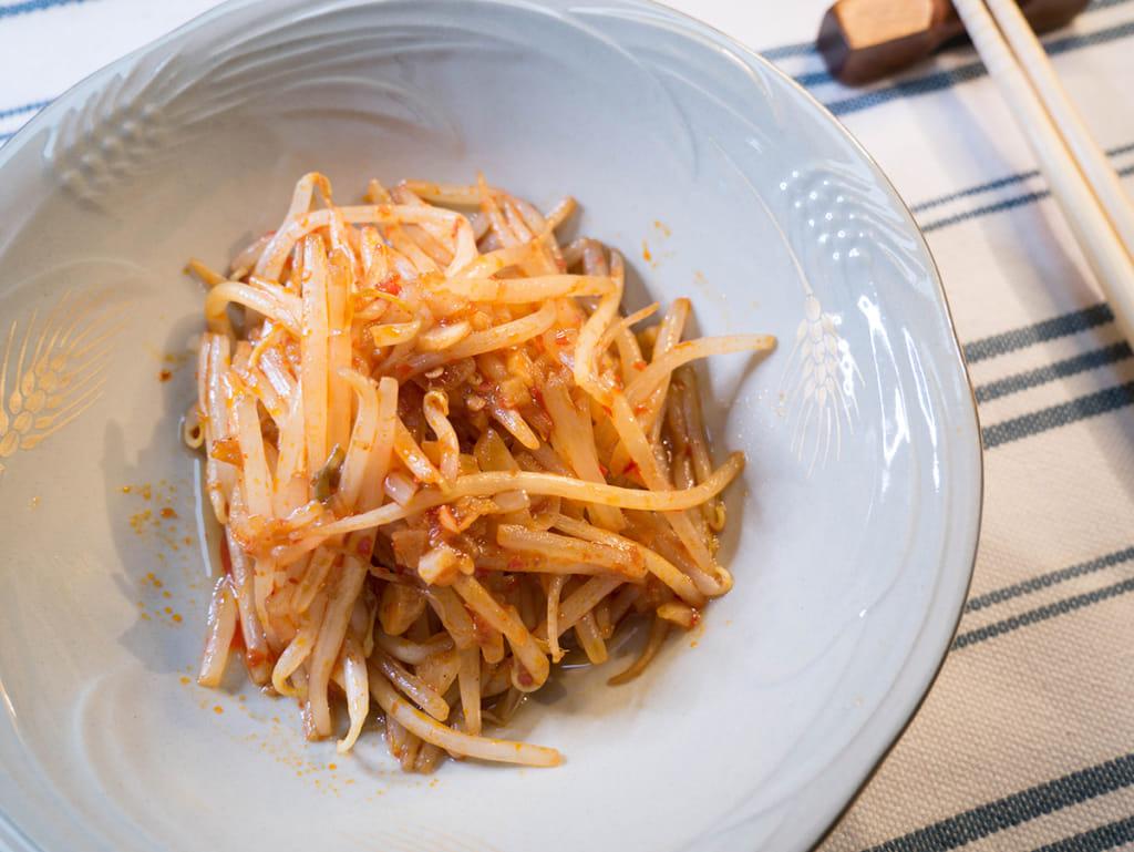 豆瓣醬炒豆芽菜