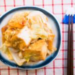 味噌醬炒高麗菜油豆腐