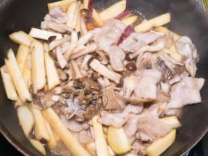 醬煮豬五花地瓜菇菇