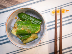 柚子醋醬油(ポン酢)醃漬小黃瓜