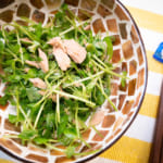 豆苗鮪魚薑汁沙拉