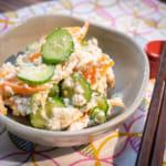 小黃瓜紅蘿蔔豆腐末拌菜|白あえ