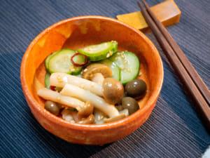 小黃瓜醋拌鴻禧菇