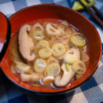 炒香菇蓮藕蔥味噌湯