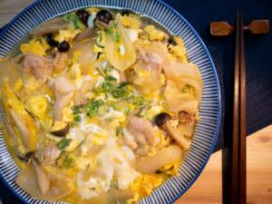 日式滑蛋雙菇|親子丼風味(卵とじ)