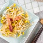 醋漬培根豆芽菜|豆芽菜新吃法