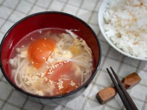 金針菇番茄蛋花湯|10分鐘快速湯品