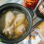 電鍋版,暖胃蔘雞湯|暖暖純手作