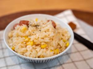 玉米香腸奶油炊飯