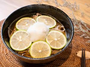 蘿蔔泥檸檬冷湯蕎麥麵