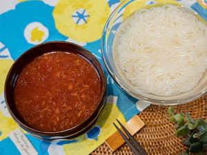 番茄鮪魚素麵(白麵線)