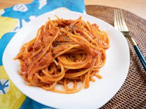 一鍋到底,日式鮪魚拿坡里義大利麵