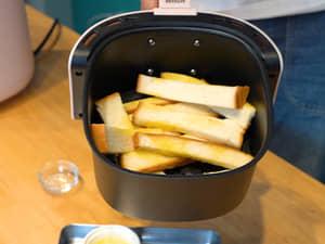 氣炸鍋做糖霜吐司|吃不完的吐司可以這樣做