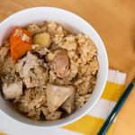 菱角雞肉奶油蒜香炊飯