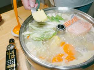 北海道鮭魚味噌『石狩鍋』|北海道根昆布高湯
