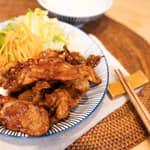 日本定食店的定番美食,薑燒豬肉
