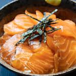 醬油漬鮭魚生魚片丼飯
