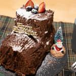 聖誕樹幹蛋糕,以市售瑞士卷為基底做超簡單!