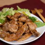 蒜味燒豬肉