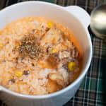 番茄鯖魚罐頭燉飯|微波爐料理