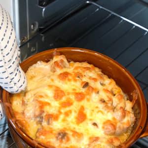親子在家同樂料理|焗烤日式年糕