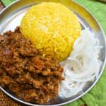 用咖哩粉完成超越餐廳的美味,「印度肉末咖哩」