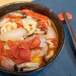 番茄湯洋風烏龍麵